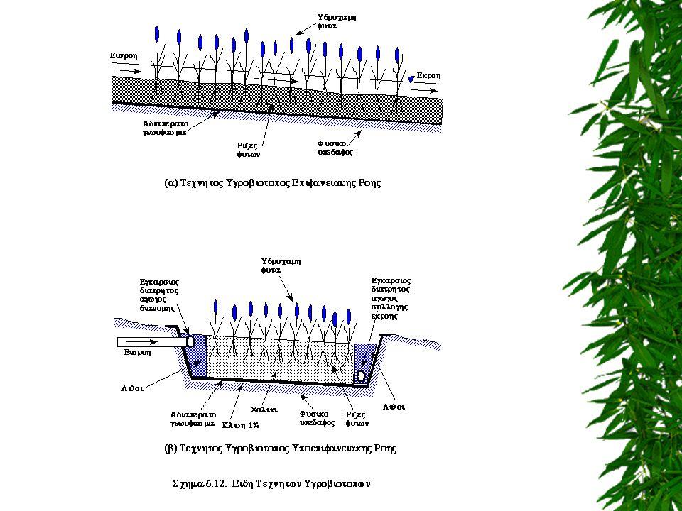 ΕΥΡΩΠΑΪΚΟΣΤΥΠΟΣ Άμμος: d 50 = 0,5 mm Λεπτό χαλίκι : d 50 = 6 mm Μέσο χαλίκι : d 50 = 24,4 mm Κροκάλες: d 50 = 90 mm 10 cm 15 cm 10 cm Κροκάλες Μέσο χαλίκι Λεπτό χαλίκι Άμμος 15 cm Τεχνητός Υγροβιότοπος Κατακόρυφης Υπόγειας Ροής