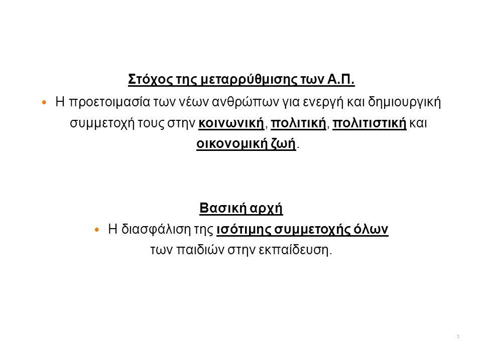 Η Κλίμακα 1 αναφέρεται στις τάξεις Α' μέχρι Δ' Δημοτικού.