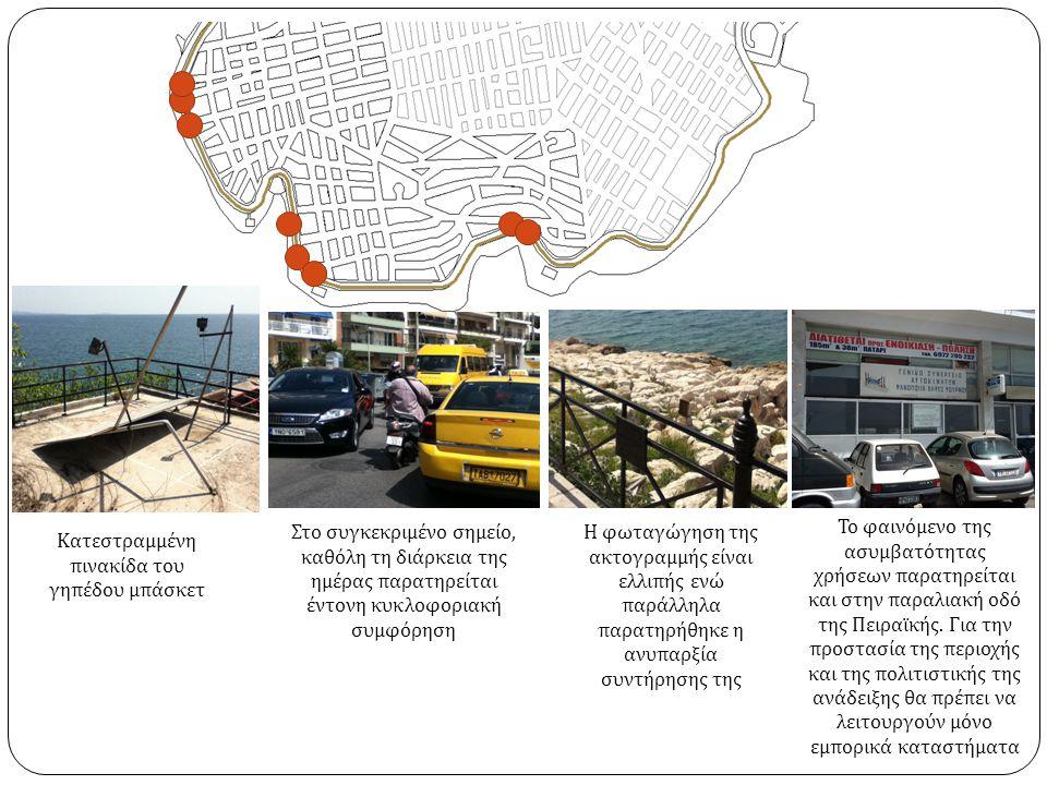 Βουλόμενα φρεάτια Ο πεζόδρομος αποτελεί λύση ανάγκης για του δημότες ώστε να σταθμεύουν τα αυτοκίνητα τους χωρίς όμως να έχει γίνει κάποια πρόβλεψη.