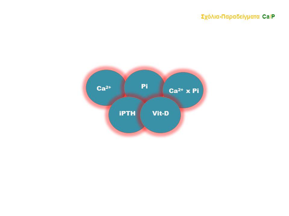 Σχόλια-Παραδείγματα Ca/P iPTHVit-D Ca 2+ Pi Ca 2+ x Pi