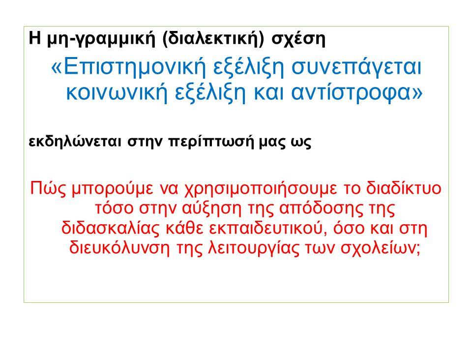 Το έργο ODS στοχεύει να βοηθήσει τους εκπαιδευτικούς να ενσωματώσουν τις νέες τεχνολογίες στην διδασκαλία τους Η Ελληνική ομάδα του έργου είναι πλήρης: Το ΙΕΠ εξασφαλίζει τη συμβατότητα των προϊόντων του έργου με την εθνική πολιτική Το ΑΕΙΤΥ εξασφαλίζει τη συμβατότητά τους με τις υπάρχουσες πλατφόρμες του ψηφιακού σχολείου Η ΕΑ προσφέρει τη συμμετοχή των ιδιωτικών σχολείων και τη μακρόχρονη εμπειρία της σε προγράμματα νέων τεχνολογιών στην εκπαίδευση Κλπ, κλπ