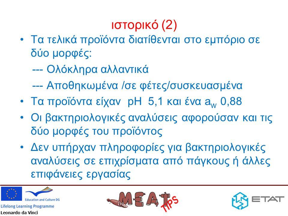 Leonardo da Vinci Σχόλια επί των δυνατών ενεργειών (2) •Χρησιμοποιείστε ως οδηγό το ISO/TS 22002-1:2009.