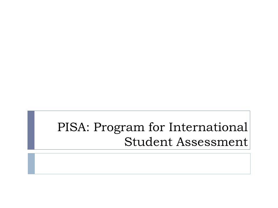 Γιατί ; Ειδικές δυσκολίες στην ανάπτυξη μαθηματικής γνώσης : PISA  PISA: Programme for International Student Assessment προωθείται από τον ΟΟΣΑ  Κάθε 3 χρόνια :  Αξιολογεί τις δυνατότητες μαθητών σε μαθηματικά, επιστήμες, και γλώσσες  Καταγράφει τις ξοδεύει κάθε χώρα για εκπαίδευση  Καταγράφει « ποιότητα / κόστος » εκπαίδευσης