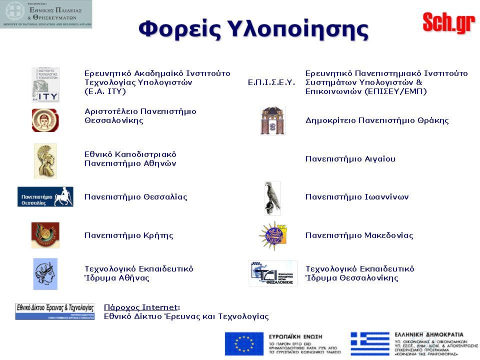 Sch.gr Προσωπικοί λογαριασμοί εκπαιδευτικών