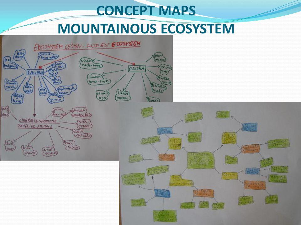 CONCEPT MAPS MOUNTAINOUS ECOSYSTEM