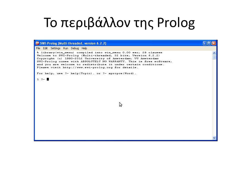 Το περιβάλλον της Prolog