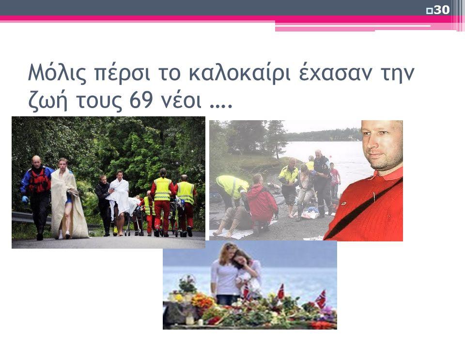 Μόλις πέρσι το καλοκαίρι έχασαν την ζωή τους 69 νέοι ….  30