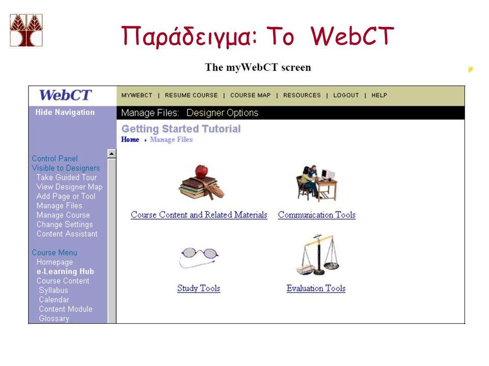 Παράδειγμα: Το WebCT