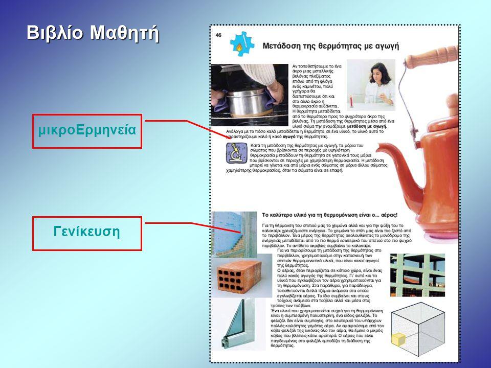 Βιβλίο Μαθητή μικροΕρμηνεία Γενίκευση