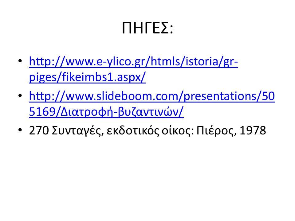 ΠΗΓΕΣ: • http://www.e-ylico.gr/htmls/istoria/gr- piges/fikeimbs1.aspx/ http://www.e-ylico.gr/htmls/istoria/gr- piges/fikeimbs1.aspx/ • http://www.slid