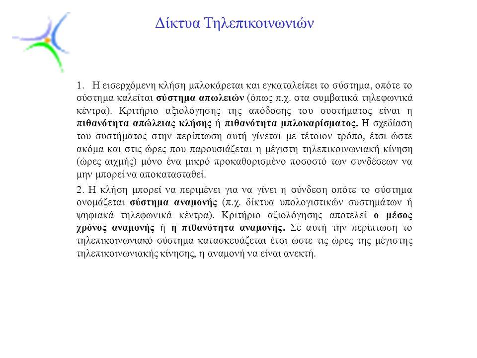 Slide 6 Δίκτυα Τηλεπικοινωνιών 1.3.