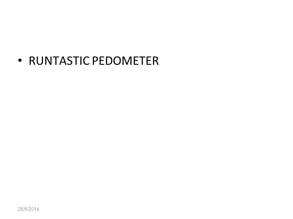 28/6/2014 • RUNTASTIC PEDOMETER