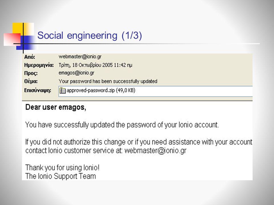 Social engineering (1/3)