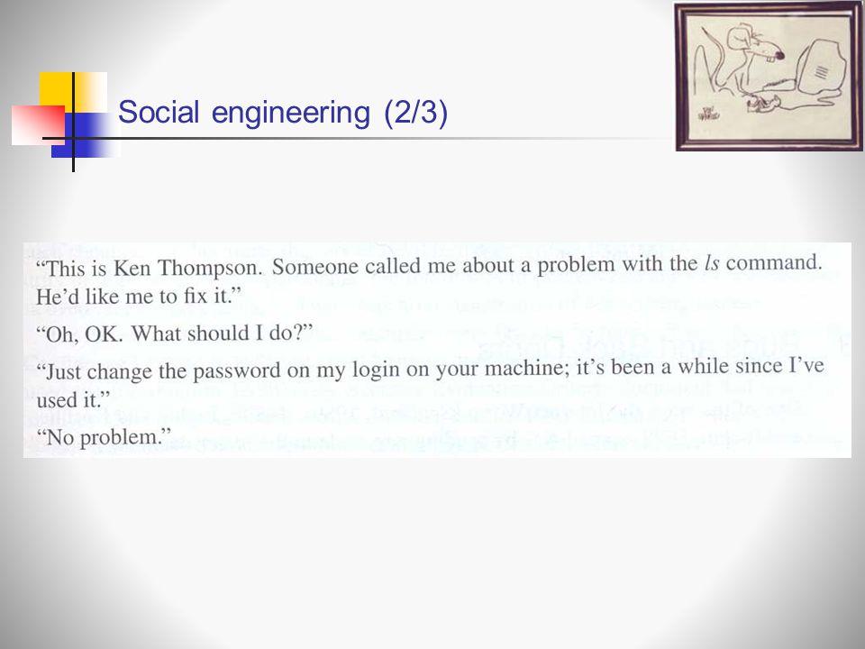 Social engineering (2/3)