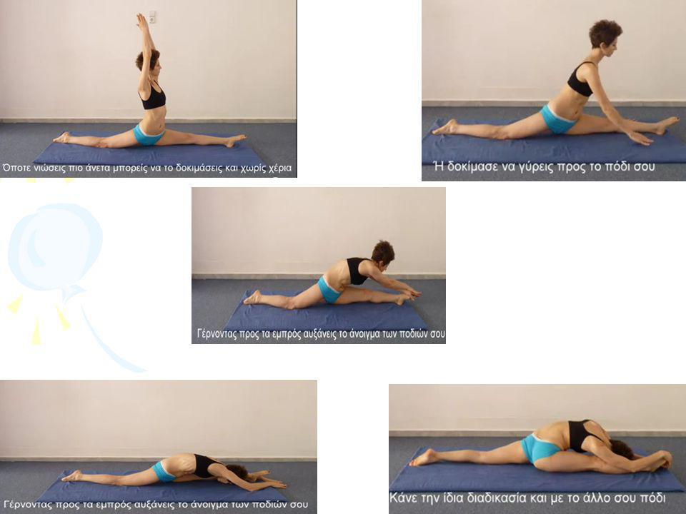 ΠΡΟΓΡΑΜΜΑ •Άσκηση 6 η :Μένουμε για 10'' σε κάθε μια από τις τέσσερεις αυτές θέσεις με 20'' διάλειμμα Χ 2 σετ.