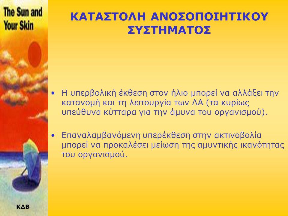 ΚΔΒ ΟΦΘΑΛΜΙΚΕΣ ΒΛΑΒΕΣ •Καταρράκτης : Μια από τις κύριες αιτίες τύφλωσης •Φωτοκερατίτις από ηλιακό φώς: «έγκαυμα» του οφθαλμού. Το σύμπτωμα εξαφανίζετα