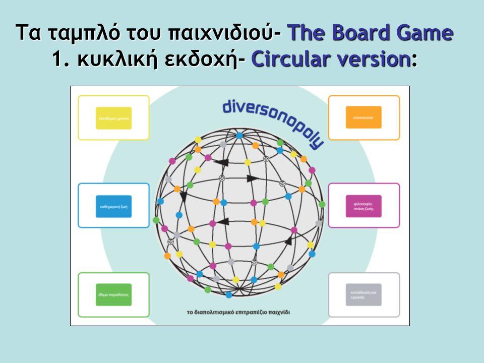 Τα ταμπλό του παιχνιδιού- The Board Game 1. κυκλική εκδοχή- Circular version: