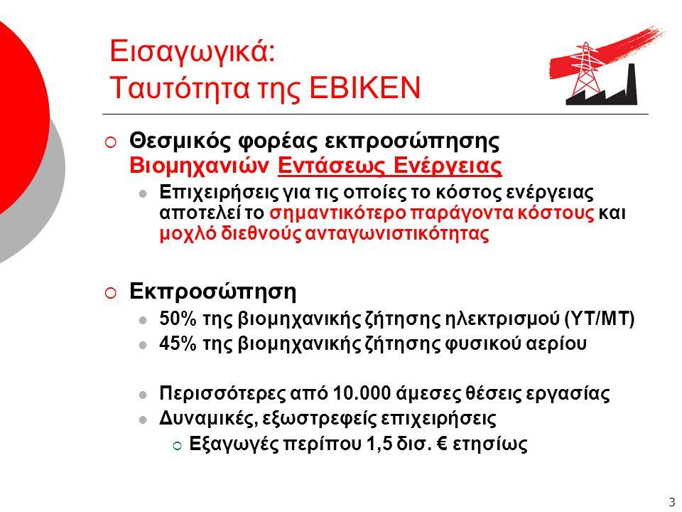 4 Κόστος Ενέργειας Ανταγωνιστικότητα – Βιωσιμότητα  Τ ο κόστος ενέργειας  φ τάνει μέχρι το 50% του κόστους παραγωγής  αποτελεί τον κύριο παράγοντα διεθνούς ανταγωνιστικότητας  σε αντίθεση με το εργατικό κόστος που είναι συγκρίσιμο  οδηγ εί σε συρρίκνωση τη βιομηχανική παραγωγή  Η ελληνική βιομηχανία σήμερα βρίσκεται σε οριακό σημείο  α παξιώνονται επενδύσεις δισεκατομμυρίων  απειλούνται δεκάδες χιλιάδες θέσεις εργασίας  Κίνδυνος για τη βιωσιμότητ α χιλιάδων μεταποιητικών μονάδων, ακόμα και για υγιείς, δυναμικές και εξωστρεφείς επιχειρήσεις  άμεσες επιπτώσεις στην Οικονομία και την Απασχόληση