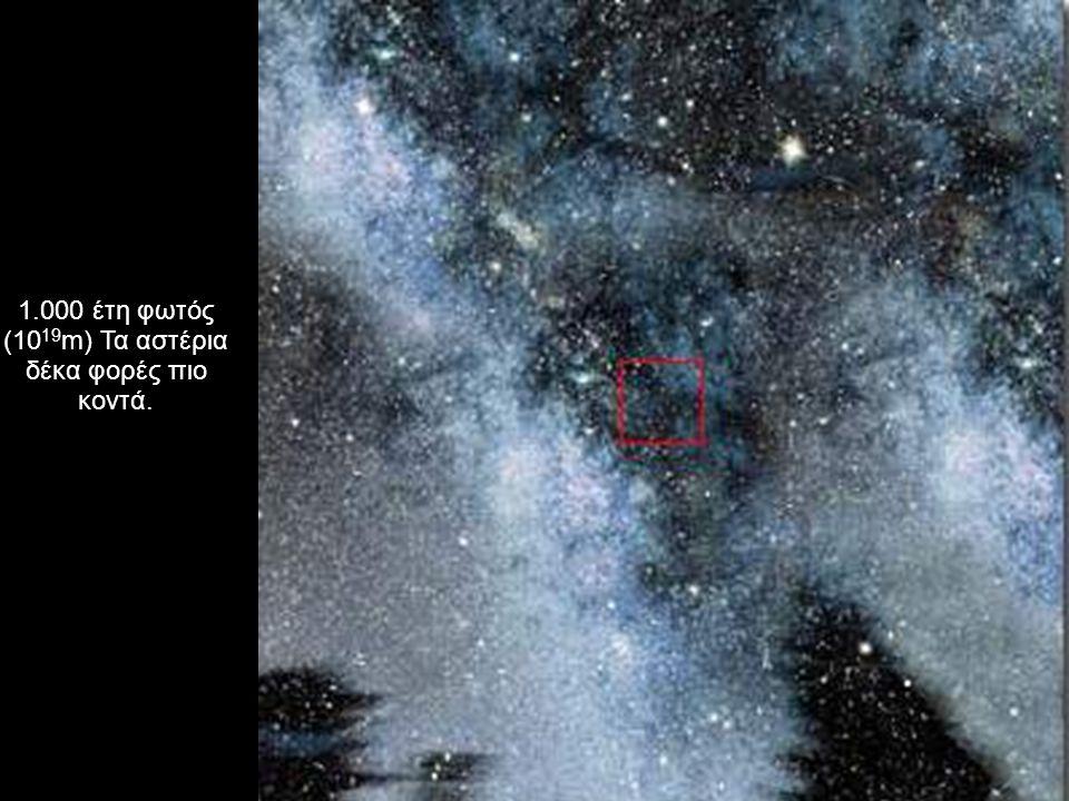 1.000 έτη φωτός (10 19 m) Τα αστέρια δέκα φορές πιο κοντά.