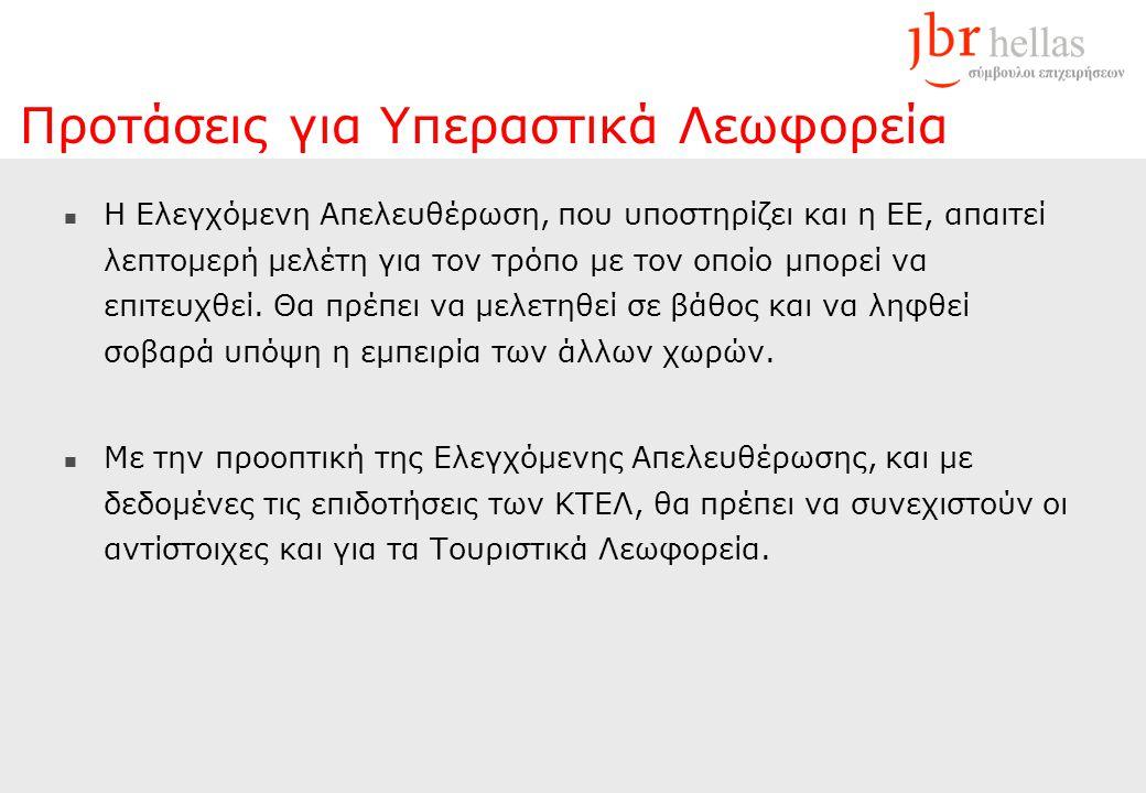 Προτάσεις για Υπεραστικά Λεωφορεία  Η Ελεγχόμενη Απελευθέρωση, που υποστηρίζει και η ΕΕ, απαιτεί λεπτομερή μελέτη για τον τρόπο με τον οποίο μπορεί να επιτευχθεί.
