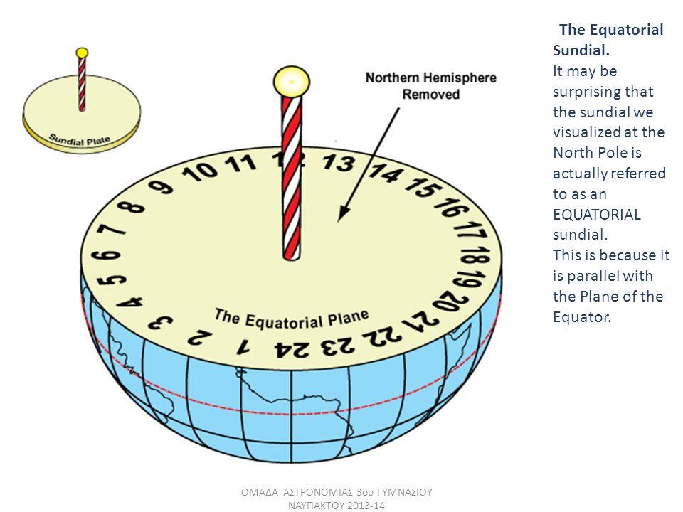 The Equatorial Sundial.