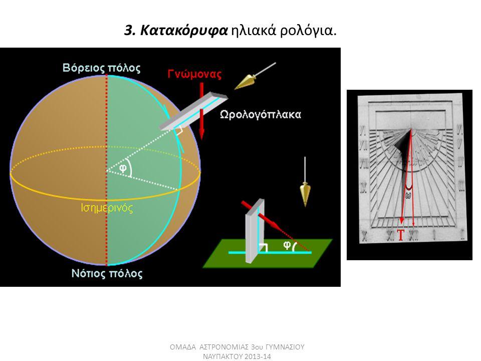 3. Κατακόρυφα ηλιακά ρολόγια. ΟΜΑΔΑ ΑΣΤΡΟΝΟΜΙΑΣ 3ου ΓΥΜΝΑΣΙΟΥ ΝΑΥΠΑΚΤΟΥ 2013-14