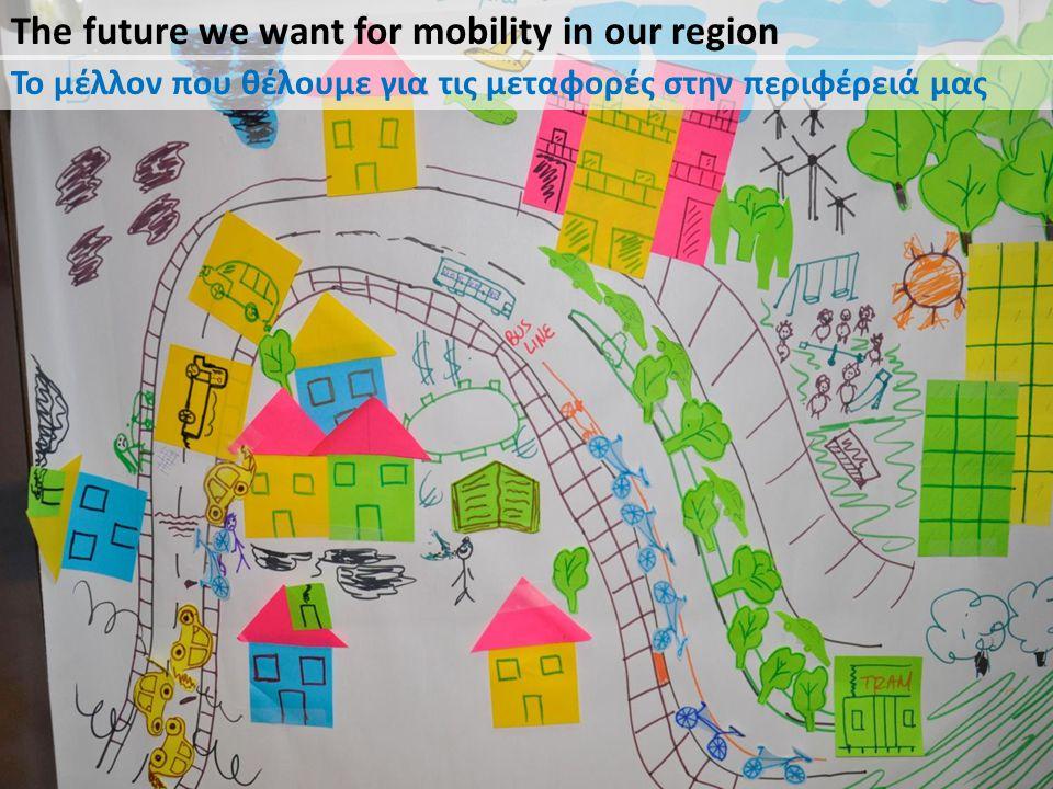 The future we want for mobility in our region Το μέλλον που θέλουμε για τις μεταφορές στην περιφέρειά μας