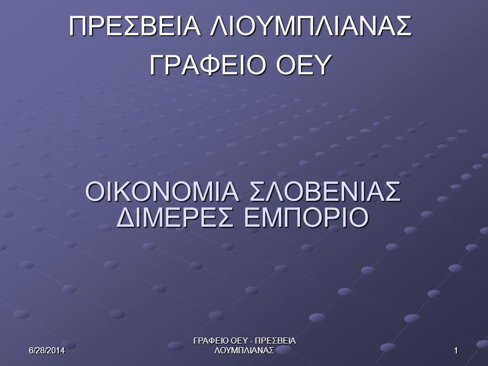 126/28/2014 ΓΡΑΦΕΙΟ ΟΕΥ - ΠΡΕΣΒΕΙΑ ΛΟΥΜΠΛΙΑΝΑΣ Προοπτικές Ανάπτυξης Ελληνικών Εξαγωγών-Υπηρεσιών Ανταγωνιστικά Ελληνικά προϊόντα (που καταλαμβάνουν σημαντικό μερίδιο αγοράς στην κατηγορία τους) εντοπίζονται κυρίως στα νωπά φρούτα (πορτοκάλια, καρπούζια, ροδάκινα, ακτινίδια, βερύκοκα, κεράσια) και λαχανικά (σπαράγγια, πιπεριές), ιχθυηρά (τσιπούρες, λαυράκια), παρασκευασμένα τρόφιμα (ελιές, ροδάκινα και νεκταρίνια, βερύκοκκα), τυρί φέτα, ελαιόλαδο, μετρητές ηλεκτρισμού και εξαρτήματα, οξείδιο του αργιλίου (το οποίο καταλαμβάνει και σημαντικό μέρος των ελληνικών εξαγωγών).