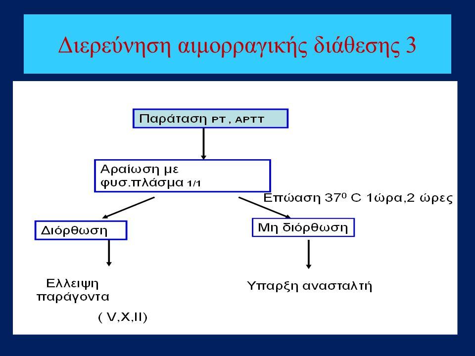 Διερεύνηση αιμορραγικής διάθεσης 3