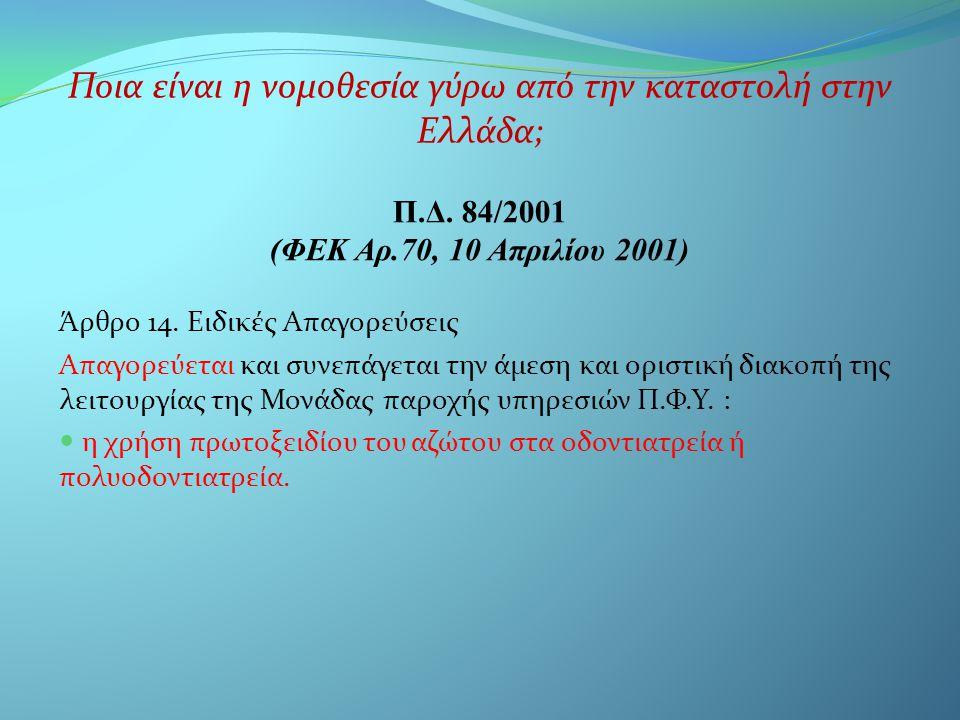 Άρθρο 14. Ειδικές Απαγορεύσεις Απαγορεύεται και συνεπάγεται την άμεση και οριστική διακοπή της λειτουργίας της Μονάδας παροχής υπηρεσιών Π.Φ.Υ. :  η