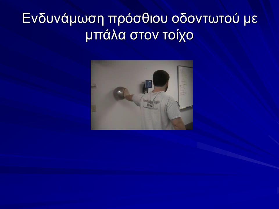 Ενδυνάμωση πρόσθιου οδοντωτού με μπάλα στον τοίχο
