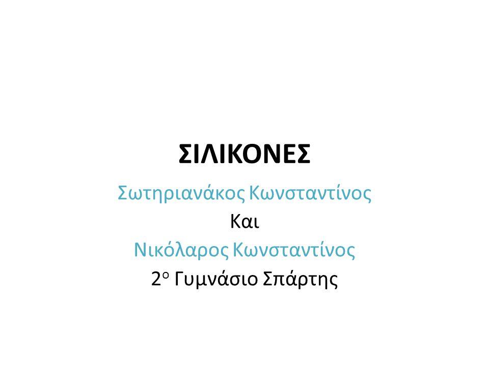 ΣΙΛΙΚΟΝΕΣ Σωτηριανάκος Κωνσταντίνος Και Νικόλαρος Κωνσταντίνος 2 ο Γυμνάσιο Σπάρτης
