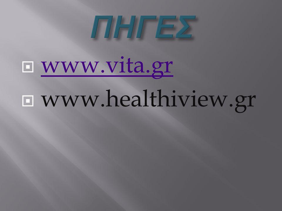  www.vita.grwww.vita.gr  www.healthiview.gr