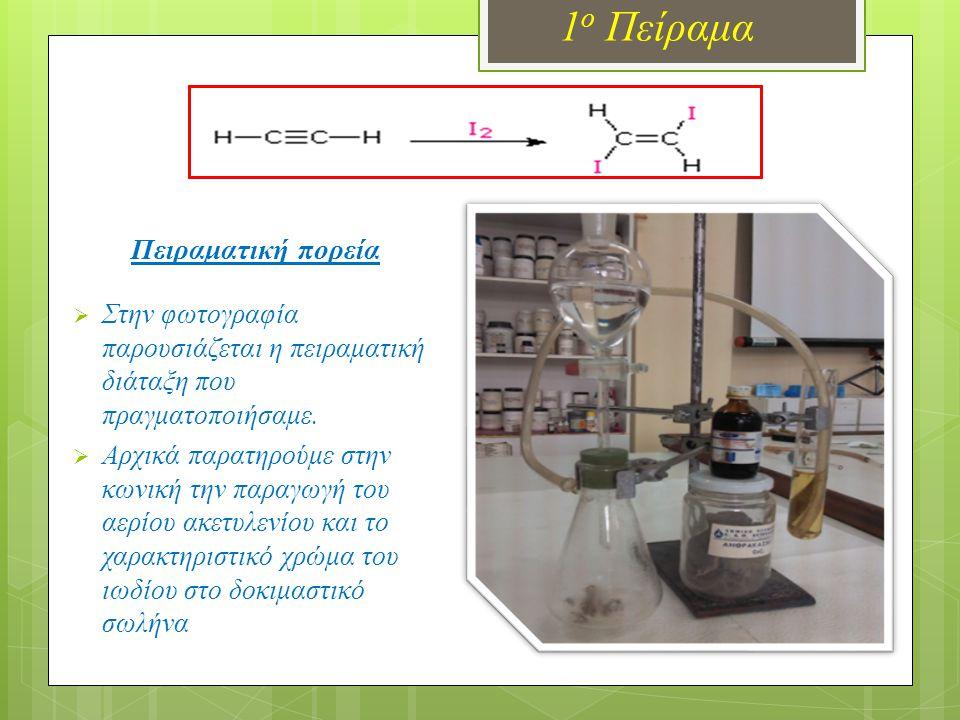 1 ο Πείραμα Πειραματική πορεία  Στην φωτογραφία παρουσιάζεται η πειραματική διάταξη που πραγματοποιήσαμε.