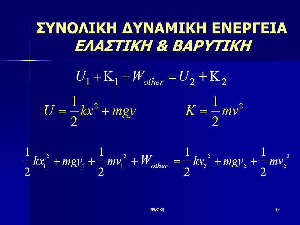 Φυσική17 ΣΥΝΟΛΙΚΗ ΔΥΝΑΜΙΚΗ ΕΝΕΡΓΕΙΑ ΕΛΑΣΤΙΚΗ & ΒΑΡΥΤΙΚΗ