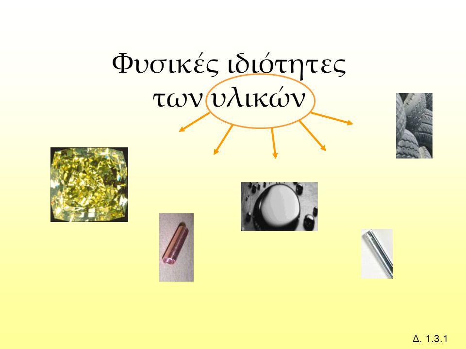 Φυσικές ιδιότητες των υλικών Δ. 1.3.1