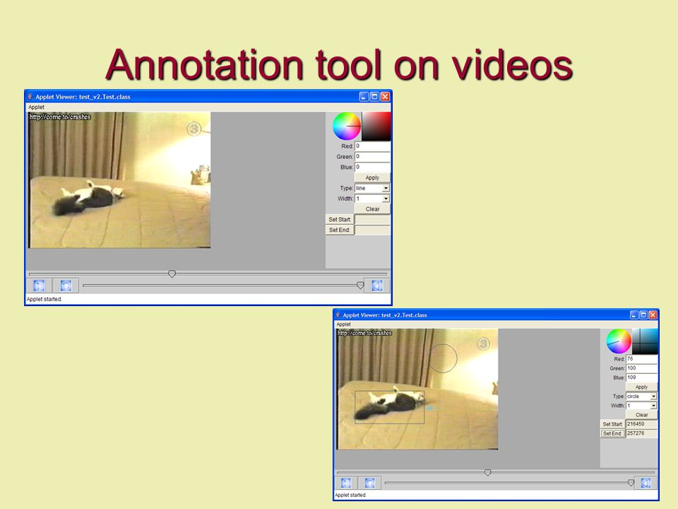 Annotation tool on videos