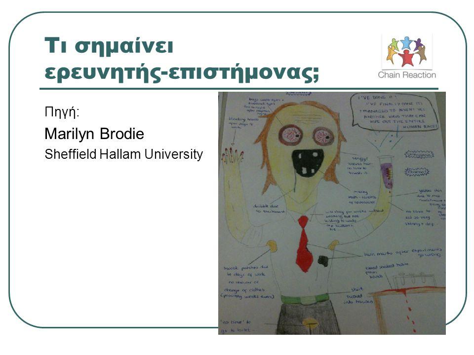 Τι σημαίνει ερευνητής-επιστήμονας; Πηγή: Marilyn Brodie Sheffield Hallam University