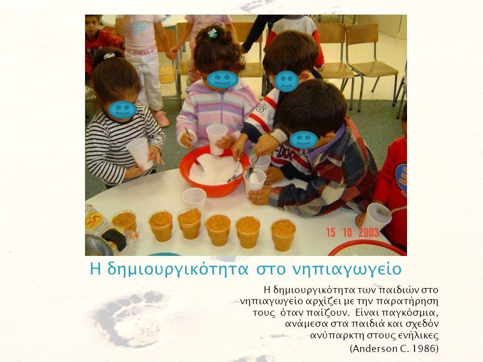  Δημιουργικότητα στο νηπιαγωγείο  Τέσσερις νοητικές λειτουργίες  Μια φορά κι ένα καιρό…  Δημιουργικές ερωτήσεις  Αξιολόγηση της δημιουργικότητας  «Μεγάλα παιδιά» πορεύονται με μικρά βήματα Παρουσίαση δημιουργικών δραστηριοτήτων από νηπιαγωγούς