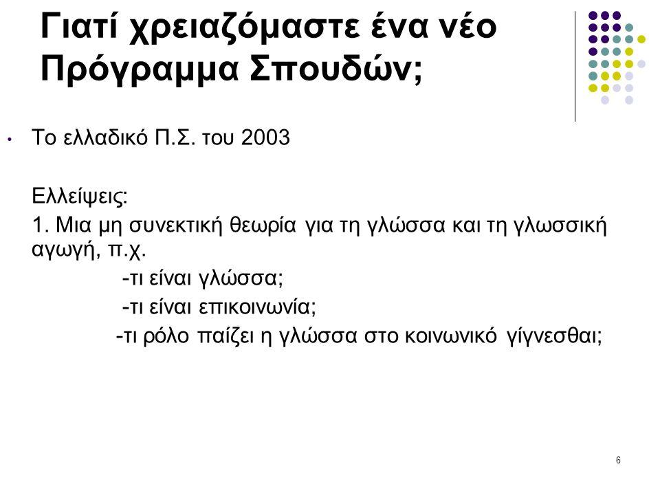 27 Η «μυθολογία» της επικοινωνιακής προσέγγισης Μύθος 10:  Δε χρειάζεται να διδάσκονται μη πρότυπες γλωσσικές ποικιλίες (π.χ.