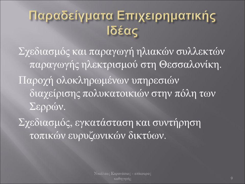 Σχεδιασμός και παραγωγή ηλιακών συλλεκτών παραγωγής ηλεκτρισμού στη Θεσσαλονίκη.