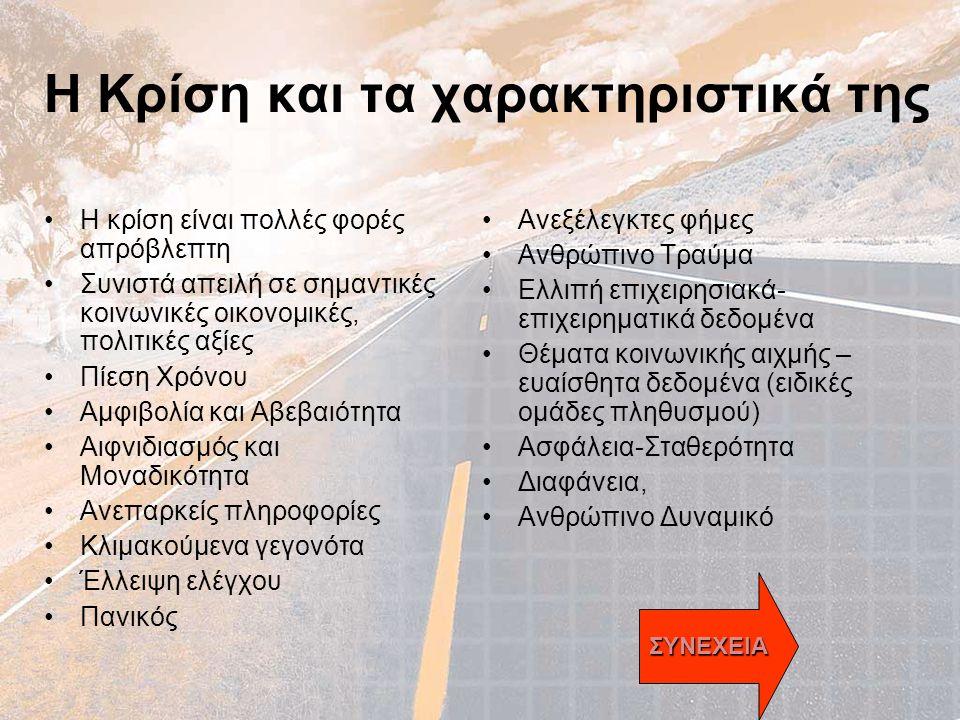 Υπόδειγμα Διοίκησης Νοσοκομείου •Κέντρο Διοίκησης και ελέγχου Νοσοκομείου Σύνδεσμος Υπεύθυνος επικοινωνίας και πληροφόρησης Διαδικασίες ΣχεδιασμόςΠόροιΆνθρωποι INCIDENT Διοικητής Ειδικός (ιατρός) Υπεύθυνος ασφαλείας