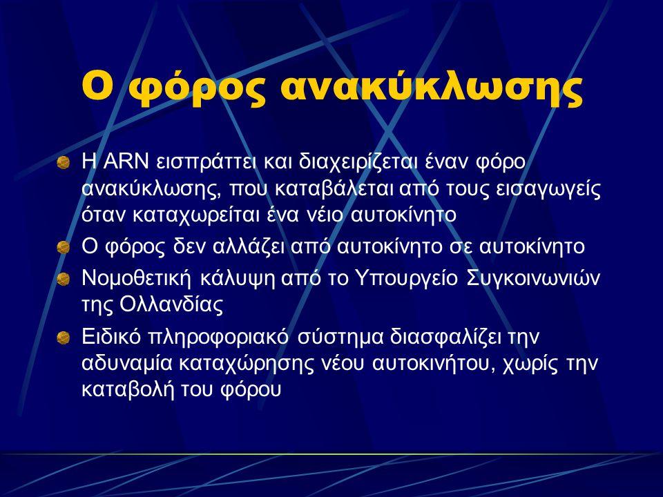 Το ύψος του φόρου ανακύκλωσης 45 ΕURO (αρχικά, το 1995 ξεκίνησε στα 130 ΕURO, το 1998 διαμορφώθηκε στα 70 ΕURO και σήμερα είναι 45 ΕURO, με τάσεςι ελαφράς μείωσης) Διαμορφώνεται με τρόπο ώστε  να είναι δυνατόν να χρηματοδοτούνται επιπλέον εργασίες ανακύκλωσης αλλά και  να αποθεματοποιείται κάποιο ποσό που θα καλύψει ενδεχόμενμη κάμψη των πωλήσεων νέων αυτοκινήτων Καταβάλλεται σε συμβεβλημένες εταιρείες αποσυναρμολόγησης, μεταφοράς και ανκύκλωσης, με την ολοκλήρωση της επιδοτούμενης εργασίας και παραλαβή- μετά από έλεγχο- των προϊόντων της (σε κιλά ή λίτρα)