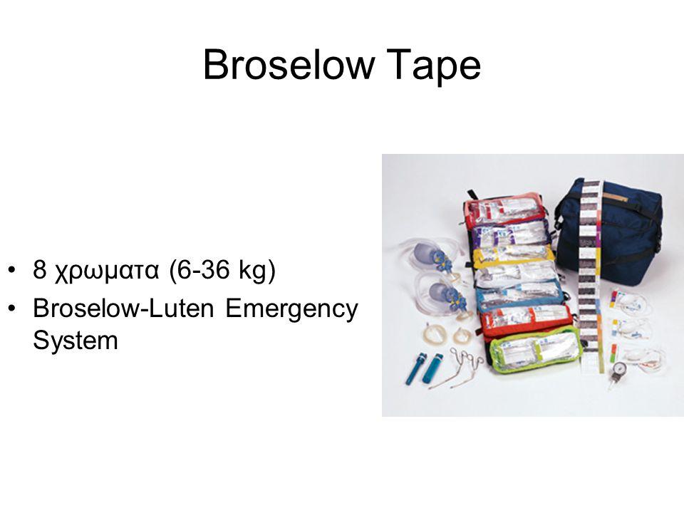 •8 χρωματα (6-36 kg) •Broselow-Luten Emergency System