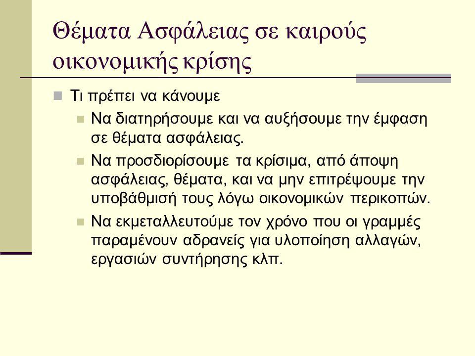 ΑΣΦΑΛΕΙΑ & ΔΙΑΧΕΙΡΙΣΗ ΑΛΛΑΓΩΝ  If you think that safety is expensive, then try an accident.