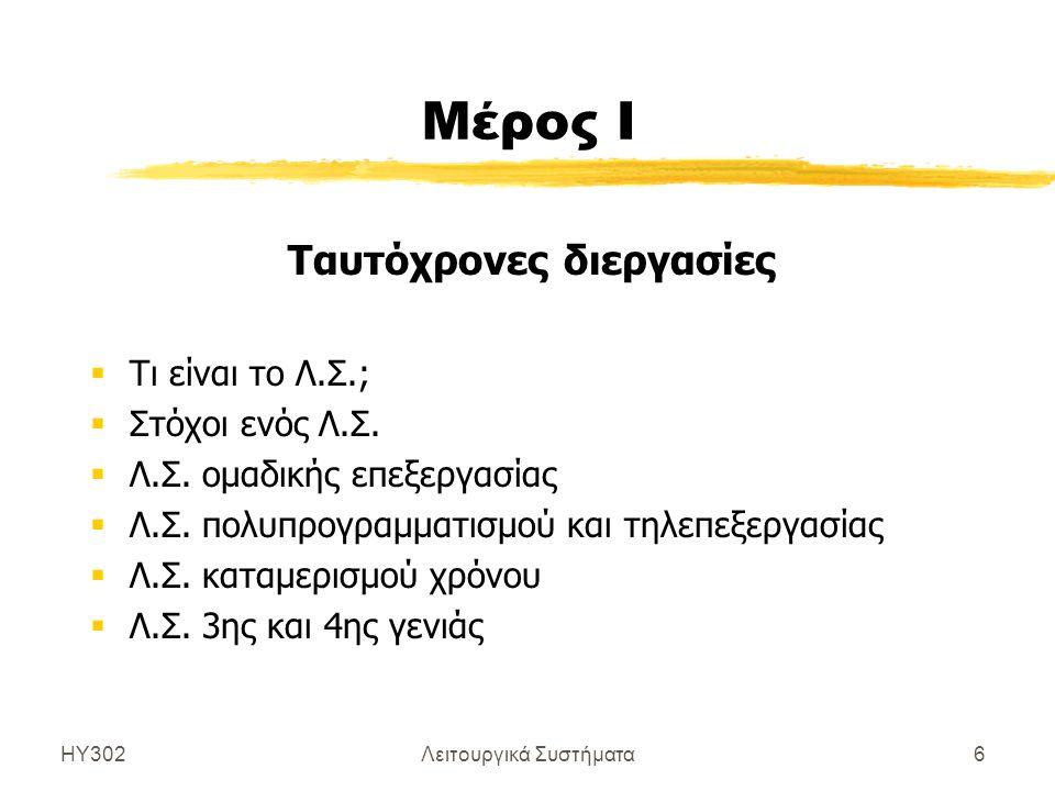 ΗΥ302Λειτουργικά Συστήματα7 Τι είναι το Λ.Σ.