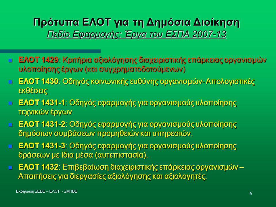 17 ΥΛΟΠΟΙΗΣΗ 11: Καινοτομία και Προστιθέμενη αξία  Πρωτογενές πρότυπο διαχείρισης  Εξέλιξη στα πρότυπα συστήματα διαχείρισης βασισμένη στην 15ετή εμπειρία εφαρμογής τους στην Ελλάδα  Προληπτικότητα με βάση τη διακινδύνευση  Προστιθέμενη αξία για τον κύριο χρήστη του προτύπου συστήματος διαχείρισης για ανταγωνιστικότητα και βιωσιμότητα λοιπών λειτουργιών π.χ.
