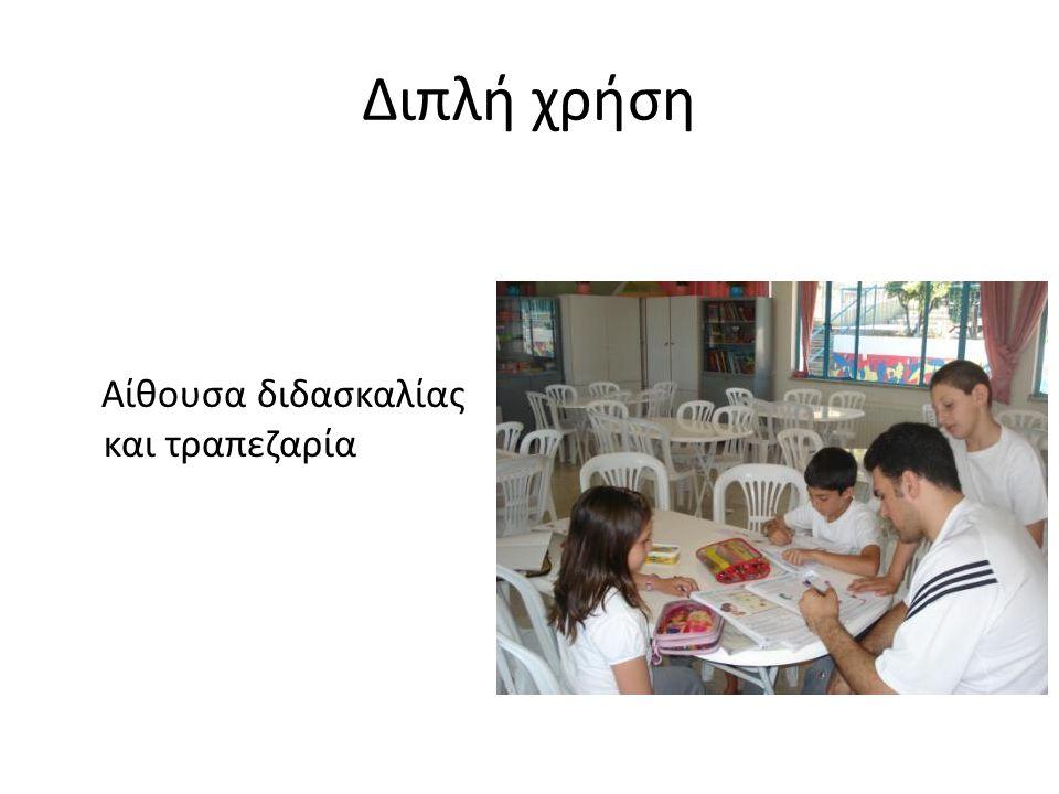 Διπλή χρήση Αίθουσα διδασκαλίας και τραπεζαρία