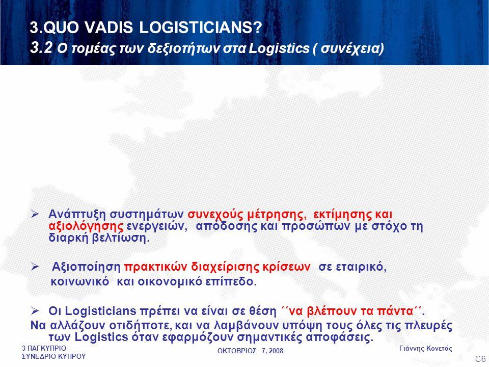 ΟΚΤΩΒΡΙΟΣ 7, 2008 Γιάννης Κονετάς3 ΠΑΓΚΥΠΡΙΟ ΣΥΝΕΔΡΙΟ ΚΥΠΡΟΥ  Ανάπτυξη συστημάτων συνεχούς μέτρησης, εκτίμησης και αξιολόγησης ενεργειών, απόδοσης και προσώπων με στόχο τη διαρκή βελτίωση.