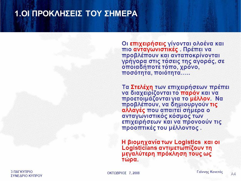 ΟΚΤΩΒΡΙΟΣ 7, 2008 Γιάννης Κονετάς3 ΠΑΓΚΥΠΡΙΟ ΣΥΝΕΔΡΙΟ ΚΥΠΡΟΥ 1.